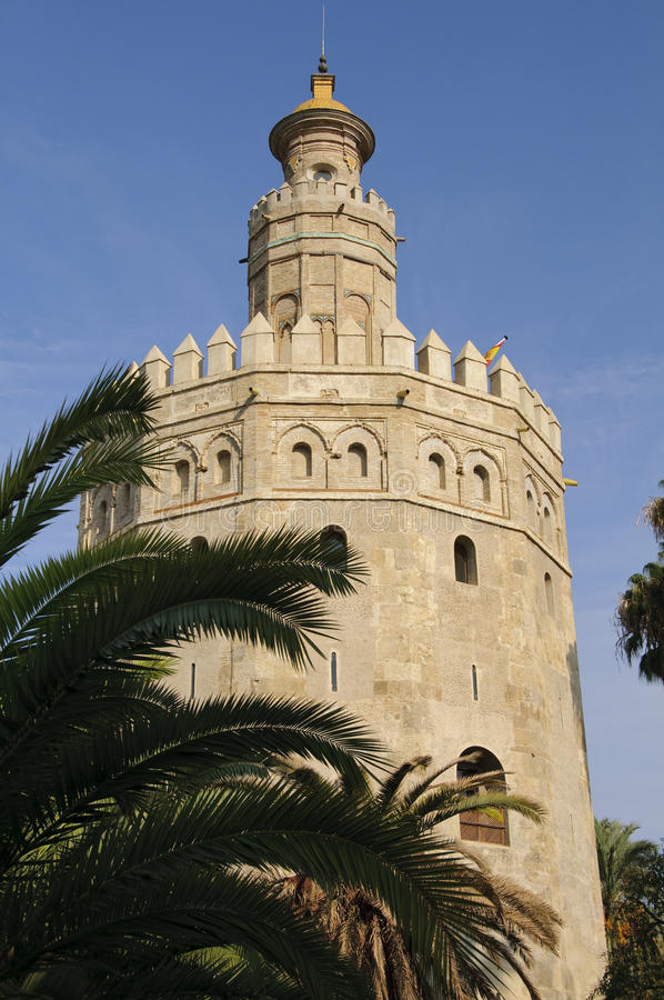 Seville - Torre del Oro royalty free stock photography