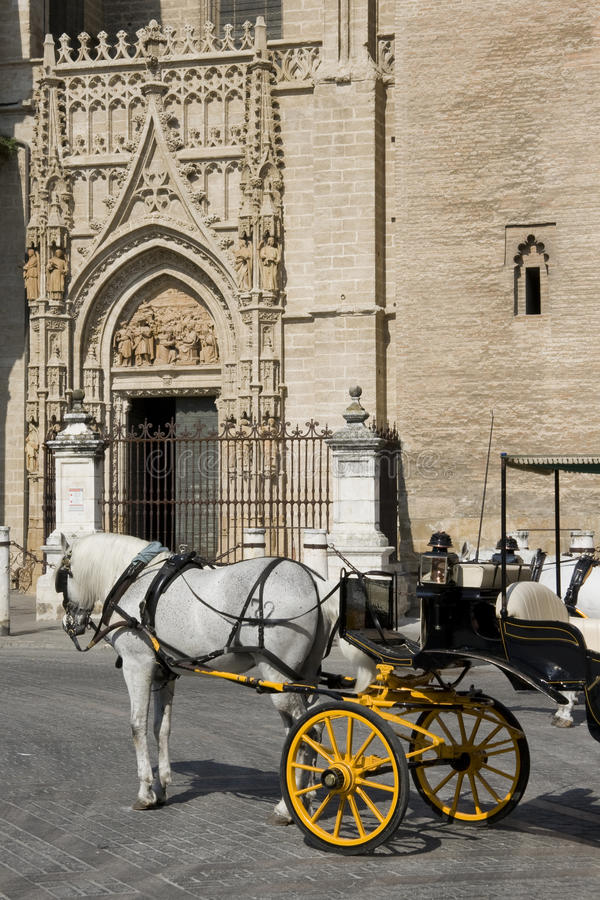 Seville - Tourist horse carriage royalty free stock photos