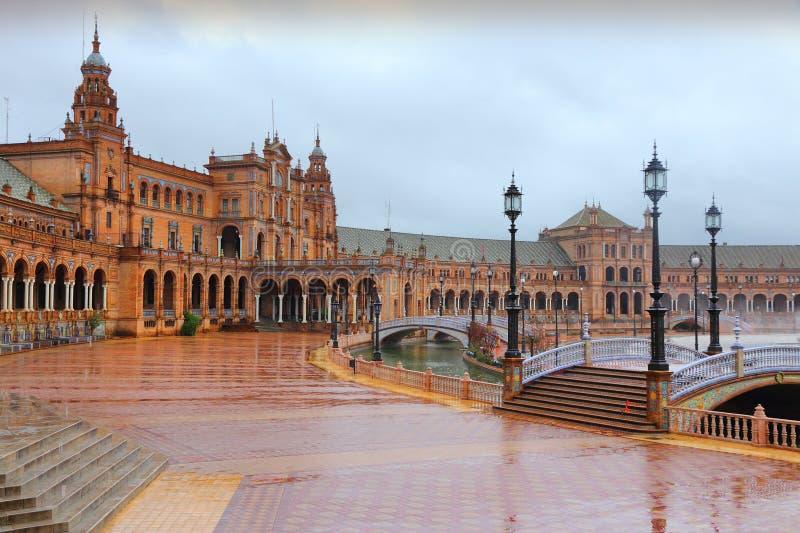 Seville w deszczu zdjęcie stock