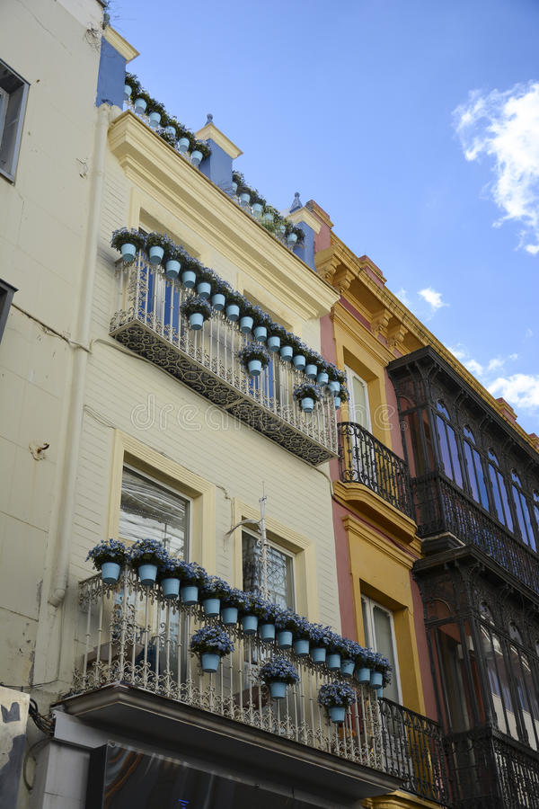 Sevillian house. stock photography