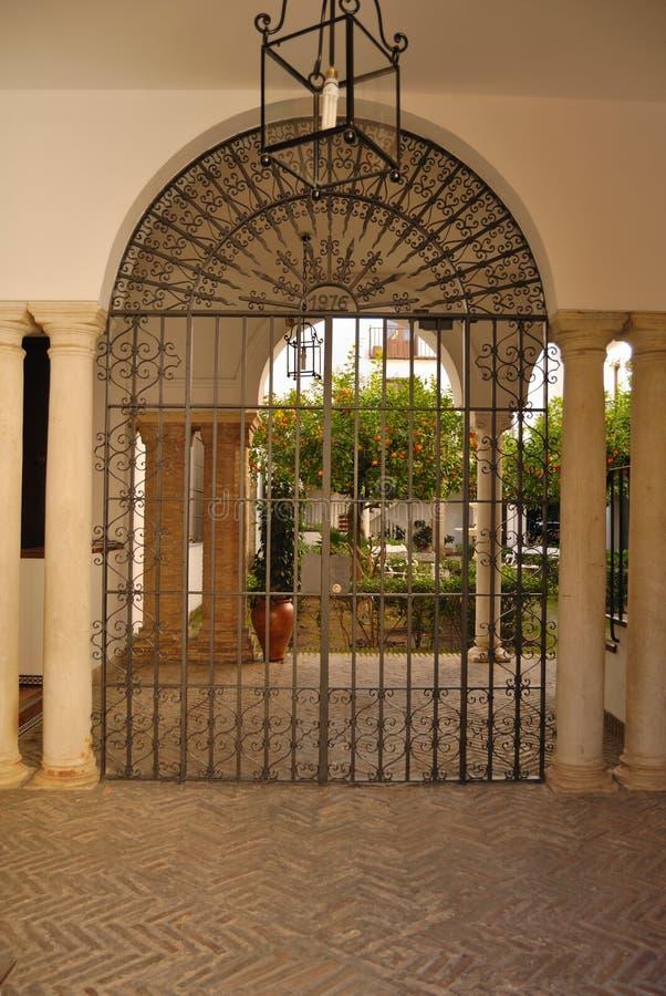 Sevillian patio stock photos