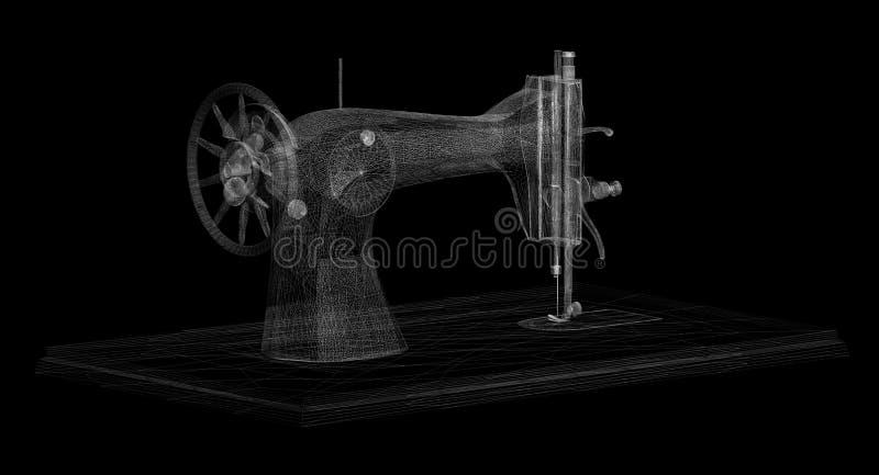 Sew a máquina ilustração do vetor