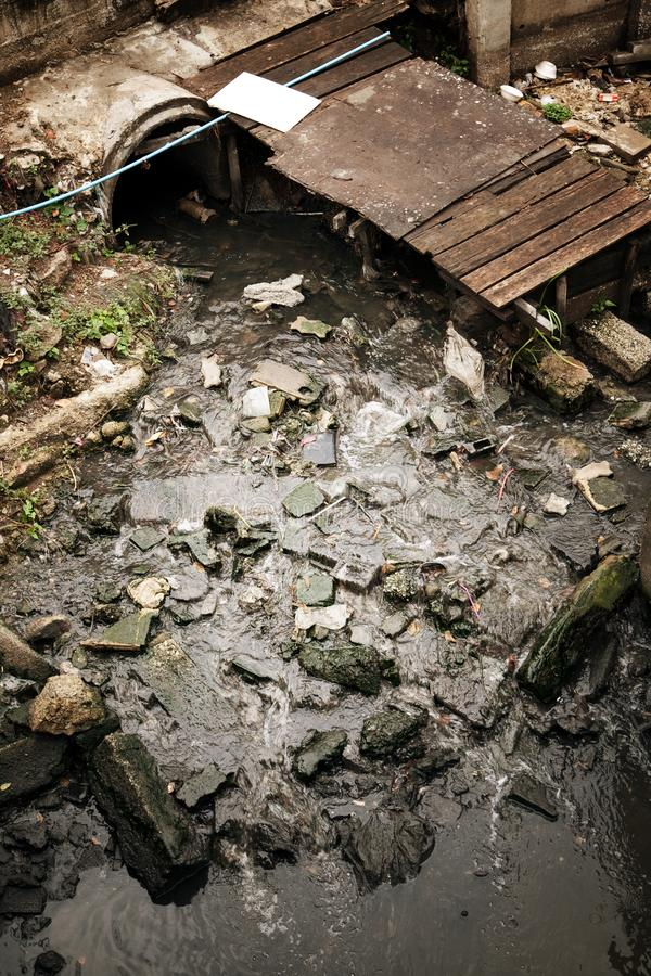 sewage fotografie stock