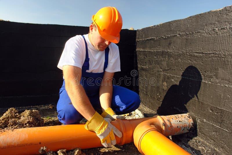 Sewage assembly royalty free stock photography
