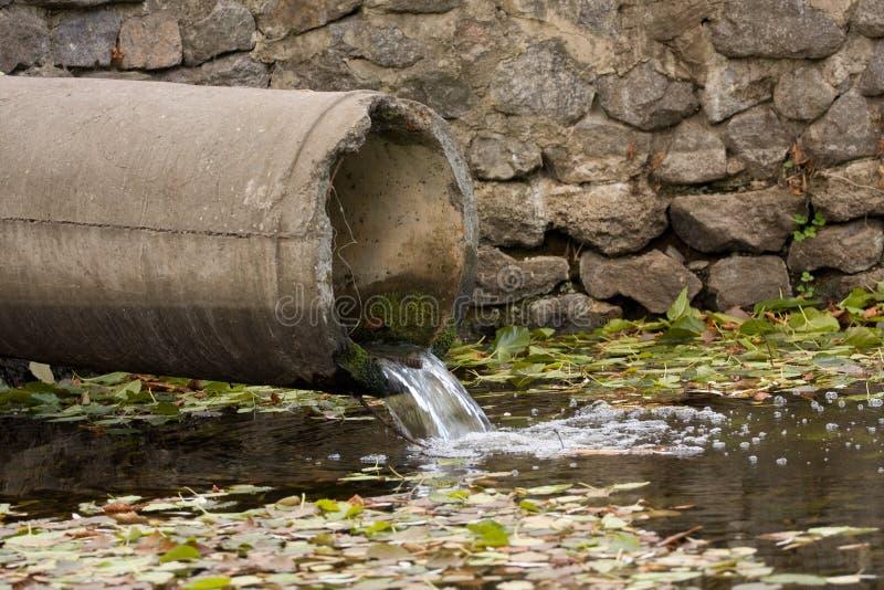 Sewage Pipe Stock Photography