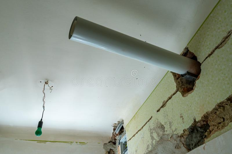 Sewage Pipe Ceiling royalty free stock image