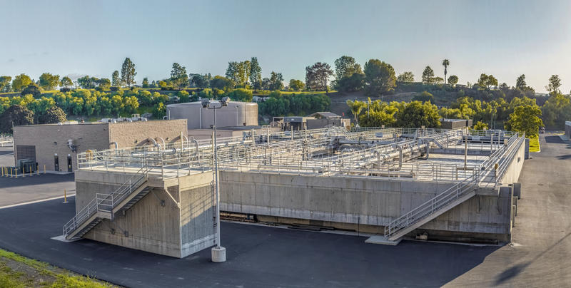 Sewage treatment plants royalty free stock photography