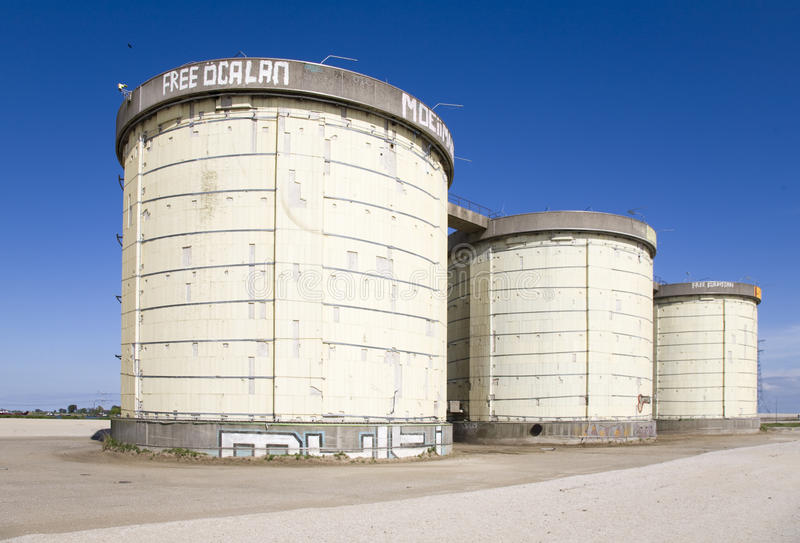 Download Sewage Treatment Silos Royalty Free Stock Photography - Image: 14211677