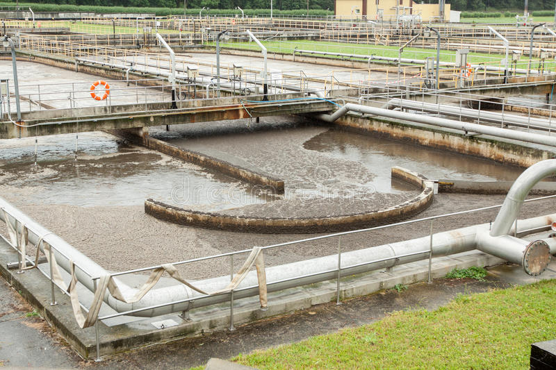 Sewage treatment. And water stock photography