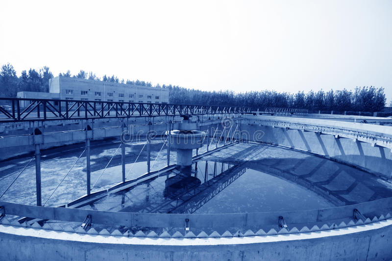 Sewage treatment works building facilities. In China royalty free stock images