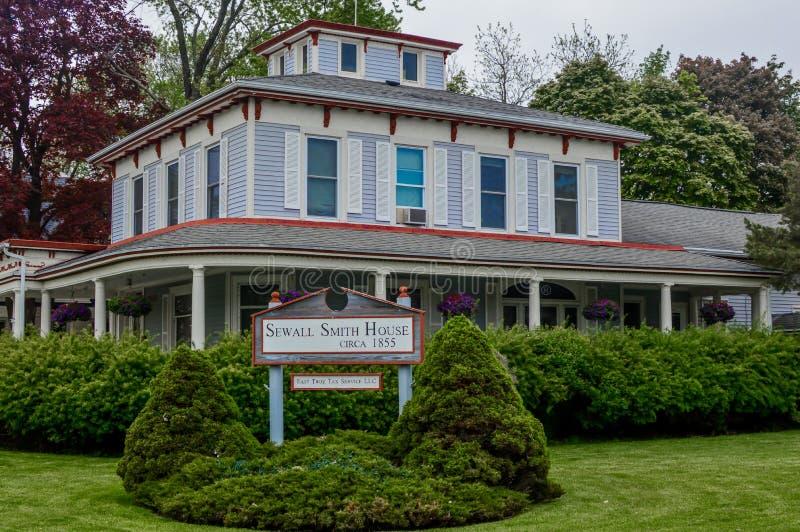 Sewall Smith House - östliga Troy, Wisconsin fotografering för bildbyråer