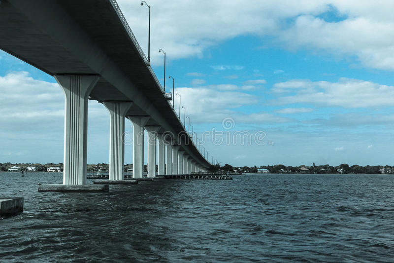 Sewalls Point. Bridge to Seawalls point from Hutchinson Island FL royalty free stock images