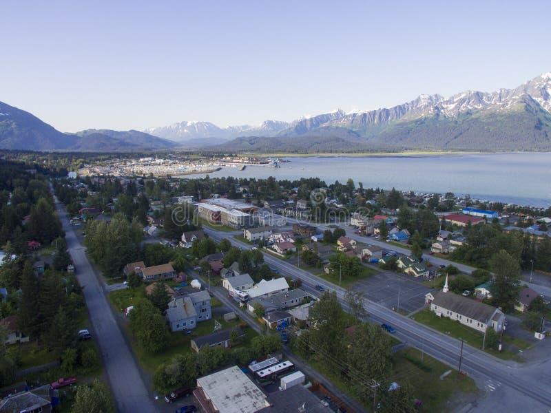 Seward, Alaska - Antenne lizenzfreie stockbilder