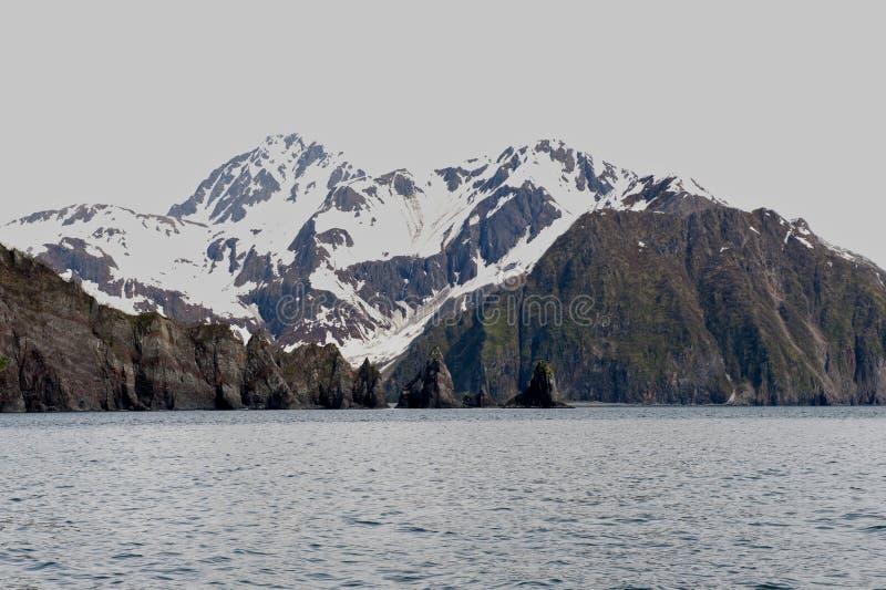 seward för alaska fjordsberg royaltyfri foto
