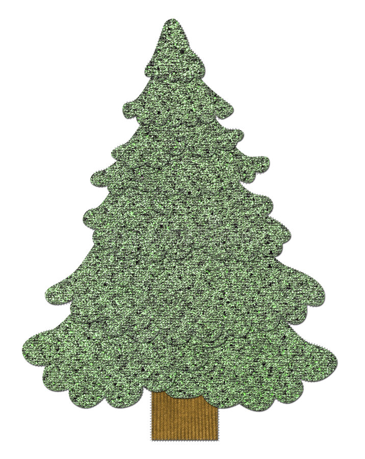Download Sewed Christmas tree stock illustration. Image of cold - 3726315
