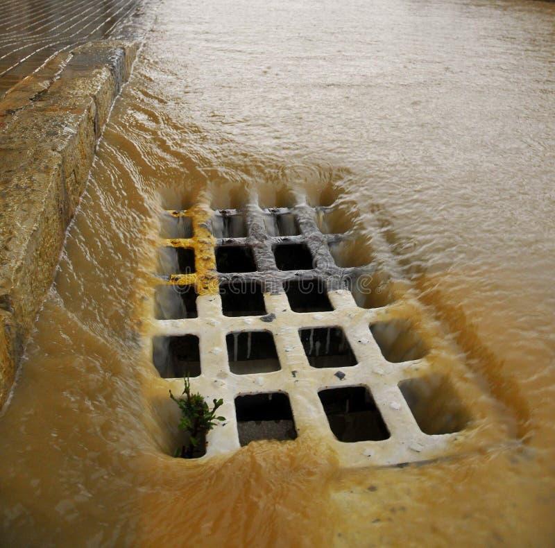 sewer стоковое изображение rf