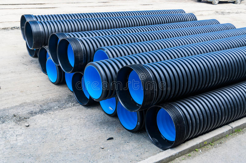 Download Sewer Pipes Of Large Diameter PVC Stock Image - Image of flexible hose & Sewer Pipes Of Large Diameter PVC Stock Image - Image of flexible ...
