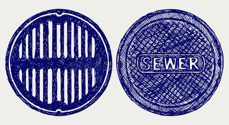 Sewer sketch vector illustration