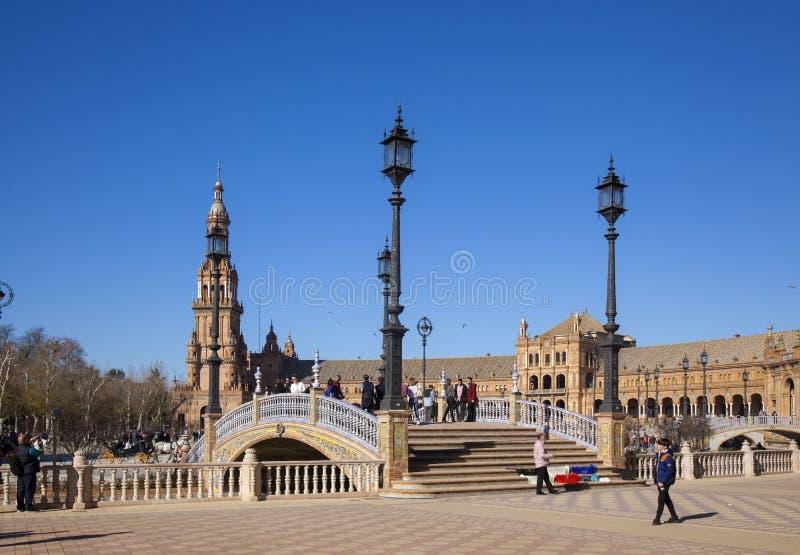 Sewilla, Plaza de Espana fotografia stock
