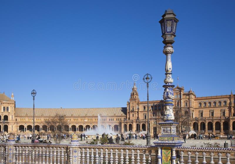 Sewilla, Plaza de Espana fotografia royalty free