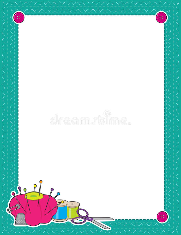Download Sewing Border stock vector. Image of thread, illustration - 21627069