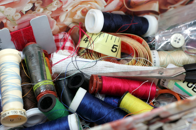 Download Sewing Box stock image. Image of detail, scissors, stitch - 1531345