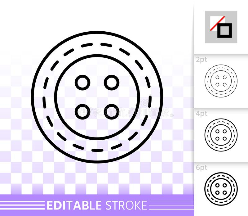 Sewing Button simple black line vector icon royalty free illustration