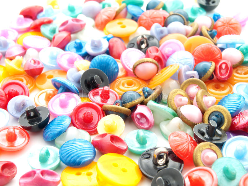 Sewing buttons stock photography