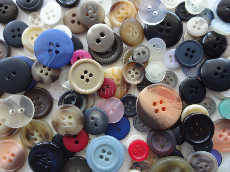 Sewing Buttons Background. Various Sizes and Colors of Sewing Buttons & x28;Background& x29 stock photo