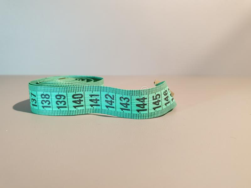 Sewing centimeter. Centimeters. Close-up. meter millimeter stock image