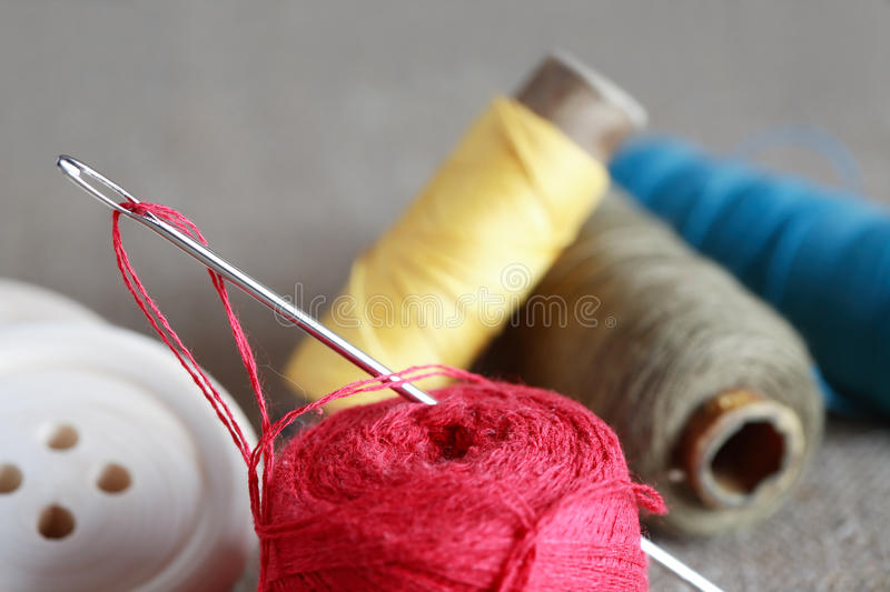 Download Sewing Concept stock image. Image of puncture, button - 38630605