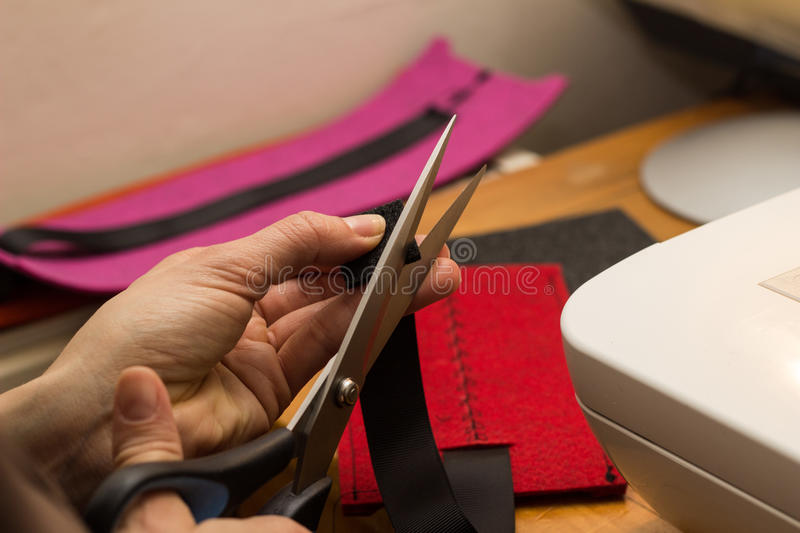 Sewing and crafting royalty free stock images