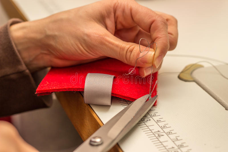Sewing and crafting royalty free stock photography