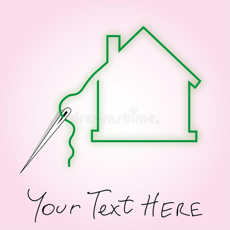 Sewing dream house vector illustration