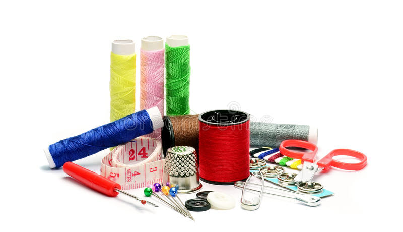 Sewing dressmaking accessories royalty free stock photo