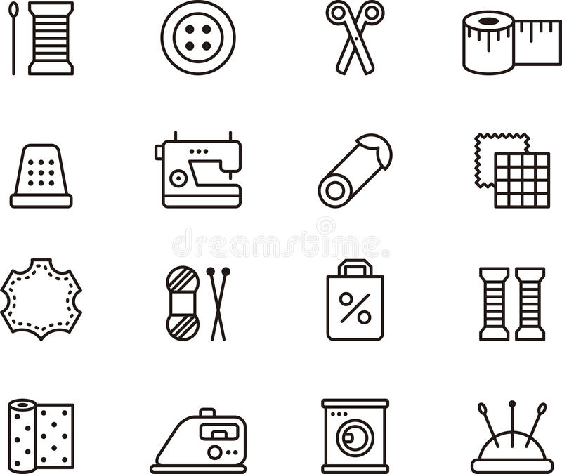 Sewing and fashion icons vector illustration