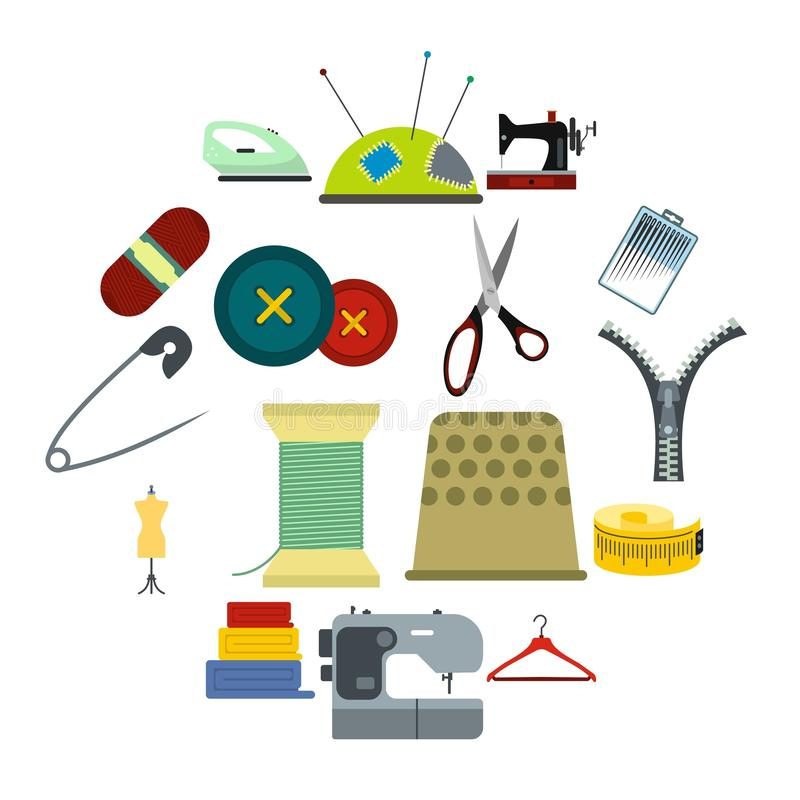 Sewing flat icon. For web and mobile devices royalty free illustration