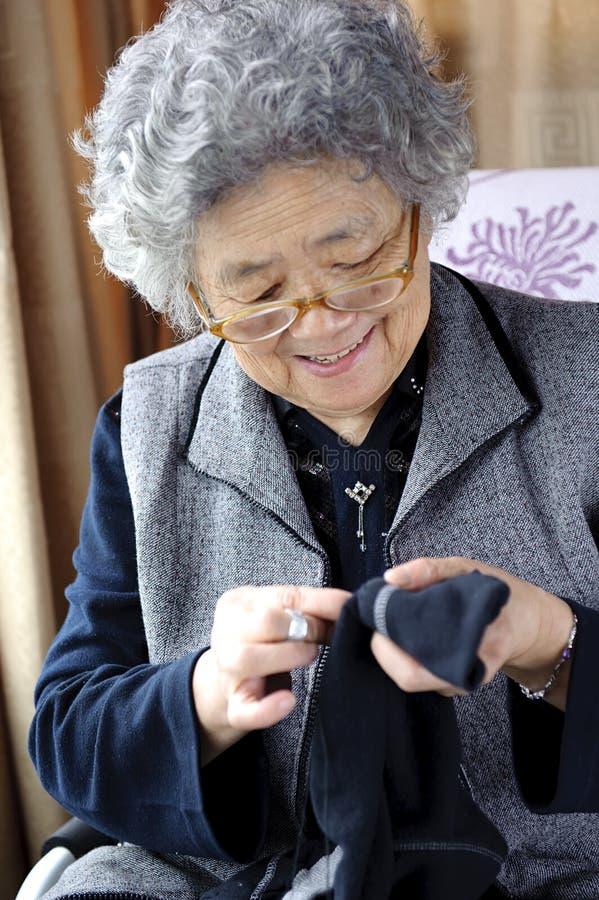 Download Sewing grandmother stock image. Image of prestige, housework - 26164815