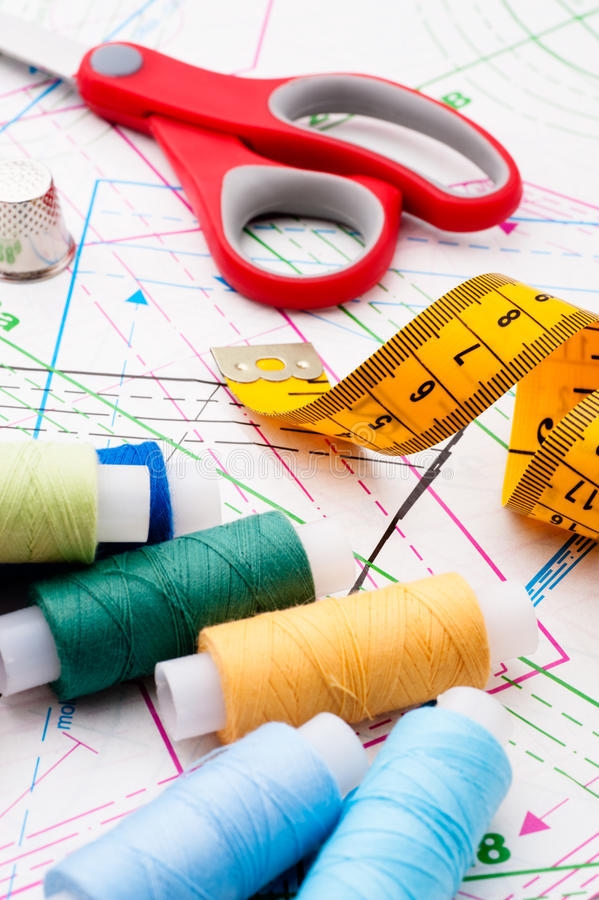 Download Sewing items stock image. Image of thread, tailor, tailors - 24233095