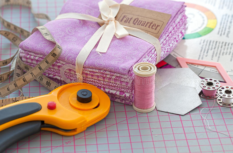 Sewing items. stock images