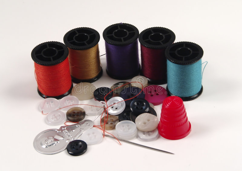 Sewing Kit stock images