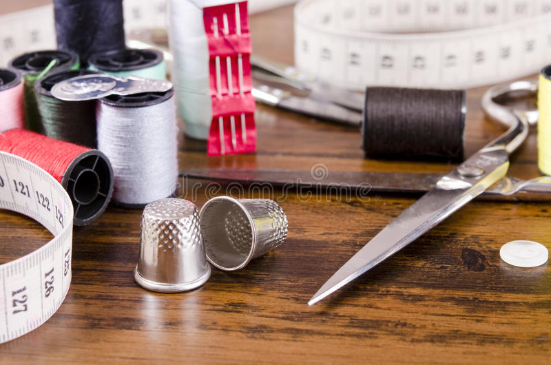 Sewing Kit stock photo