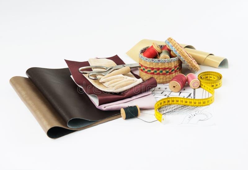 Sewing kit stock photos