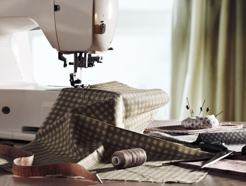 Download Sewing machine stock photo. Image of object, tool, thread - 26877254