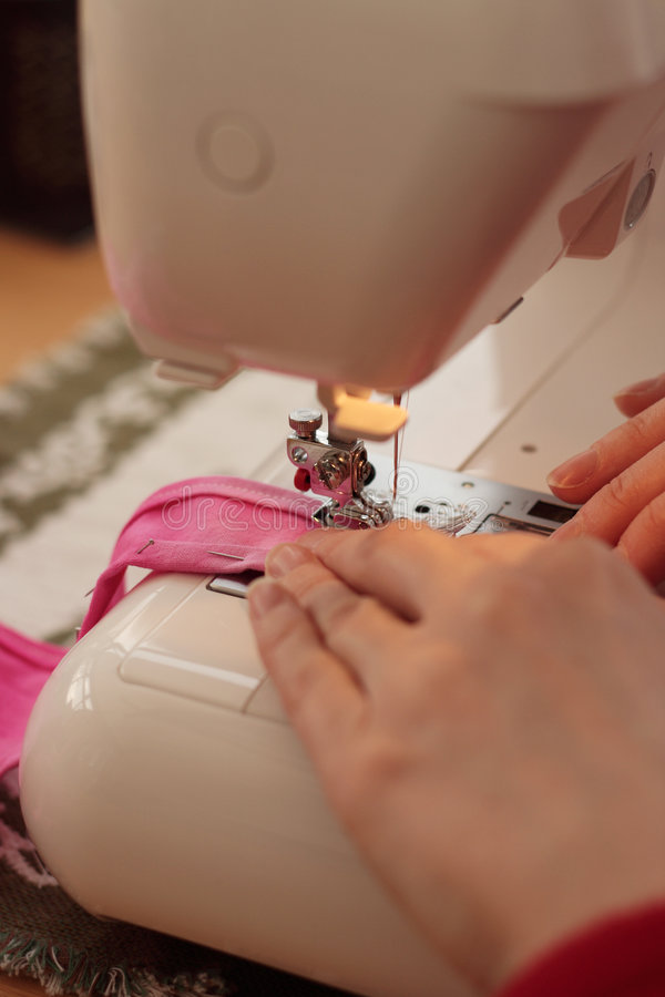 Download Sewing machine stock image. Image of reel, overlocker, lady - 493129