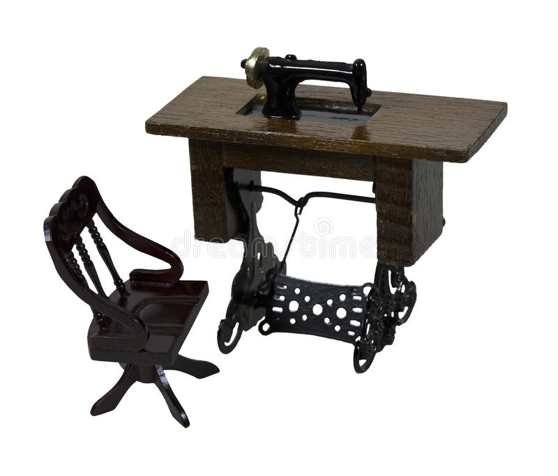 Sewing Machine And Chair Stock Photography
