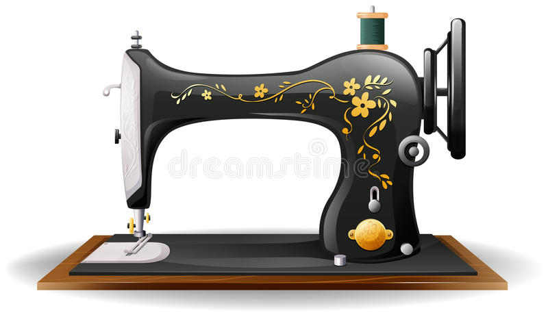 Sewing machine royalty free illustration