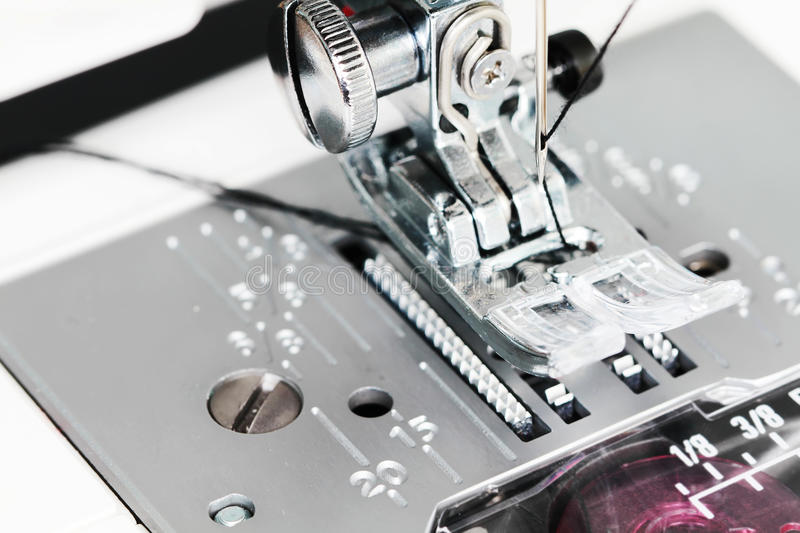 Sewing machine close up detail stock photos