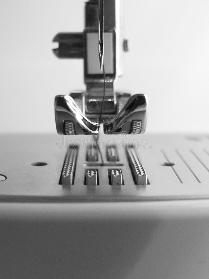 Download Sewing machine closeup stock photo. Image of metal, thread - 199768