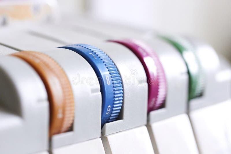 Sewing machine, overlock. Household sewing machine royalty free stock image
